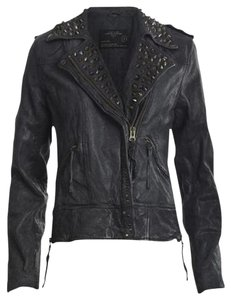 AllSaints Unique Embroidered Hippie Limited Edition Motorcycle Jacket
