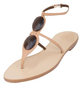 Giorgio Armani Embellished Light Brown Sandals