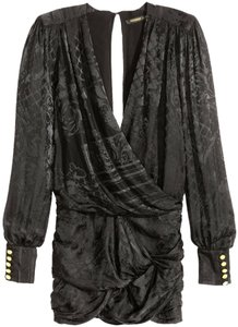 Balmain X H&m Silk Jacquard Us 6 Dress