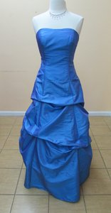 Alfred Angelo Peacock Taffeta 6483 Modern Bridesmaid/Mob Dress Size 12 (L)