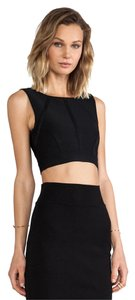 BCBGMAXAZRIA Bcbg Crop Herve Leger Top Black
