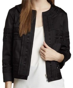 Robert Rodriguez Embroidered Unique Tribal Designer Collarless black Jacket