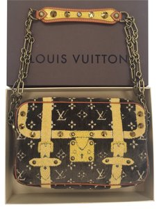 Louis Vuitton Limited Edition Crystal Brass Alligator Vachetta Shoulder Bag