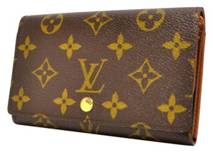 Louis Vuitton (Authentic) LOUIS VUITTON Monogram Pote Monnaie Billets tresor Wallet