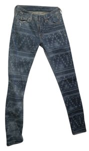 Denim & Supply Bottoms Pattern Skinny Jeans-Medium Wash