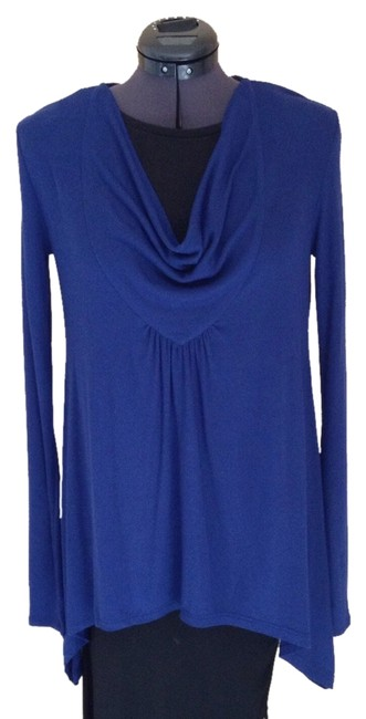 Preload https://item4.tradesy.com/images/bcbgmaxazria-blue-depth-tunic-size-0-xs-952673-0-0.jpg?width=400&height=650