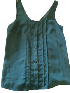 Lush Nordtrom's Buttons Back Detail Sleeveless Top Seafoam Green