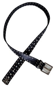 Johnny Farah Black Studded Leather Belt