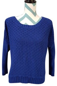 American Eagle Outfitters Knit Cobalt Cotton Sweater