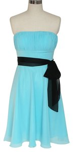 Strapless Chiffon Pleated Dress