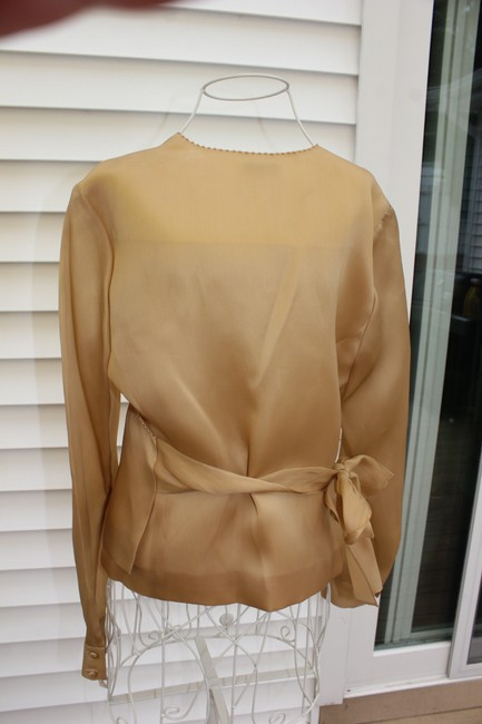 Talbots Top Gold with Pearl Trim