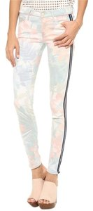 Mother Floral Striped Looker Skinny Jeans