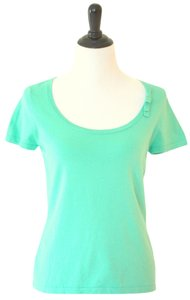 Ann Taylor Knit Top Turquoise