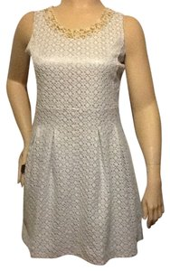 Newport News Pearl Neckline Eyelet Dress