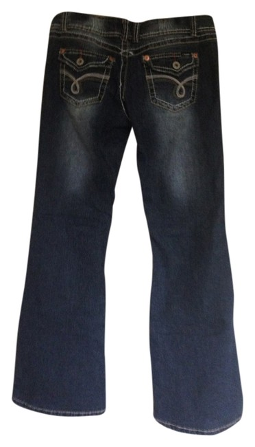 Item - Blue Distressed Boot Cut Jeans Size 34 (12, L)