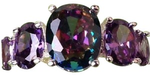 Other New Size 8, STERLING SILVER MYSTIC RAINBOW TOPAZ AMETHYST RING