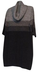 Dress Barn short dress Gray/Black Cowl-neck Sweater Warm Cozy on Tradesy