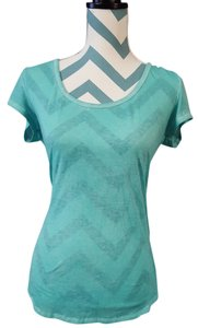 American Eagle Outfitters Burnout T Shirt Teal / Blue