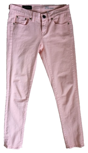 Item - Light Pink Toothpick In Garment-dyed Twill Skinny Jeans Size 26 (2, XS)