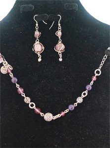 Grace Adele Purple bracelet & earring set