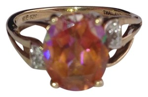 10k Gold Mystic Topaz & Diamond Ring. 10k Gold Mystic Topaz & Diamond Ring.