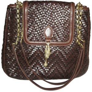 Barry Kieselstein-Cord Woven Leather Shoulder Bag