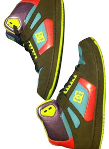 DC Shoes Sneakers High Tops Size 8 Charcoal gray (lime green, hot pink, blue, purple) Athletic
