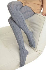 Other Cable Knit Grey Tights - S/M