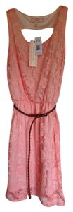 Pink Rose short dress Papaya Lace Cut Out on Tradesy