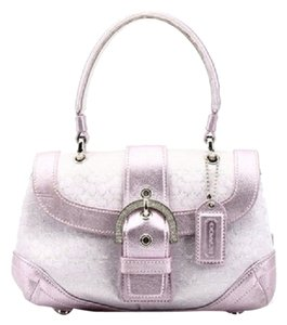 Coach Satchel in Silver/Pink