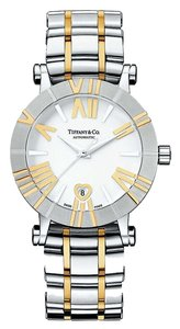 Tiffany & Co. NEW Authentic Tiffany & Co. Women's Atlas 18K Gold & Stainless Steel Automatic Watch