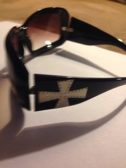 Not Rated Black Cross Glasses