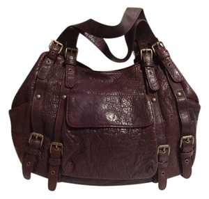 Kooba Carry-all Satchel in Maroon