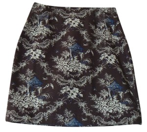 Talbots A-line Skirt Brown Toile
