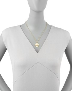 Tory Burch Authentic Tory Burch Clover Short Necklace