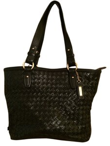Cole Haan Vintage Woven Leather Shoulder Bag