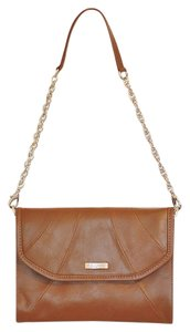 Grace Adele Envelope Purse Equestrian Leather Brown Clutch