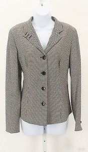 Worth Worth Black Cream Checks Button Cuffed Blazer B129