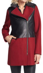 Soia & Kyo Michael Kors Rag Bone Red Black Leather Jacket