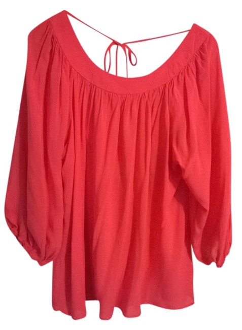 Preload https://item1.tradesy.com/images/coveted-clothing-orangecoral-blouse-size-10-m-953595-0-0.jpg?width=400&height=650
