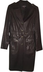 Kenneth Cole Reaction Dark chocolate Leather Jacket
