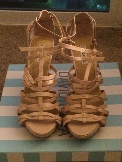 Kelsi Dagger Strappy Nude Pump Leather Sandal Beige Platforms