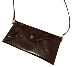 Fendi Patent Black Leather Clutch