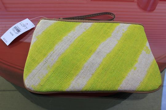 Ann Taylor LOFT Wristlet in Yellow and Tan
