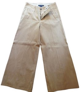 Ralph Lauren Distressed Wide Leg Pants Khaki