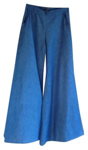Forever 21 Pants Flare Trouser/Wide Leg Jeans-Medium Wash