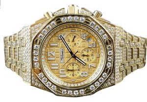 Other Mens Jojino By Joe Rodeo Simulated Diamond Ap Watch Gold Mj-8029 - Limited Qty