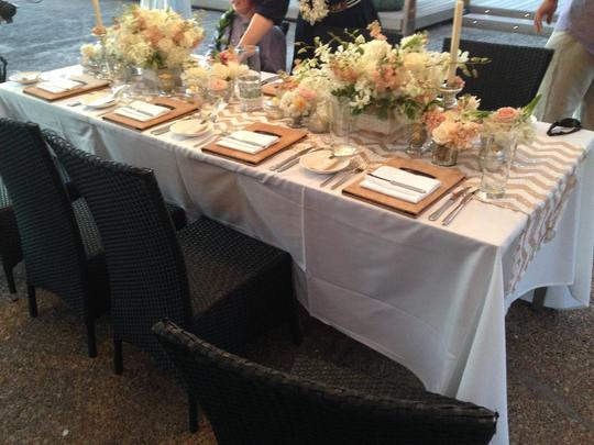 Champagne Chevron Sequin Table Runner Tablecloth Image 2