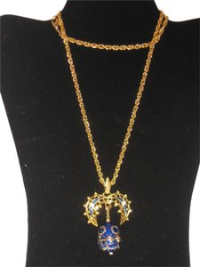 Camrose & Kross Jacqueline Kennedy Collection: Gold Necklace with Faberge Egg Watch Pendant