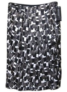 Lafayette 148 New York Tulip Size 4 Skirt multi - black, white, gray